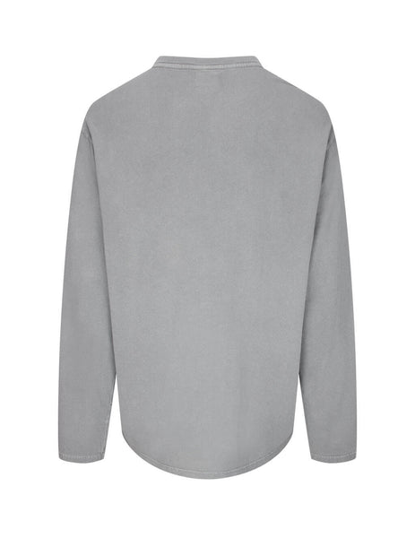 Men's KSUBI Delusional Long Sleeve T-Shirt in Grey. 5000005014