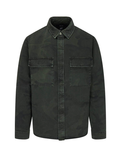 KSUBI Men's Giulio Fashion Green Frequency Camo Shirt 5000004661