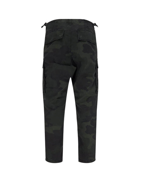 Men's Dark Green KSUBI Frequency Camo Cargo Trousers 5000004655