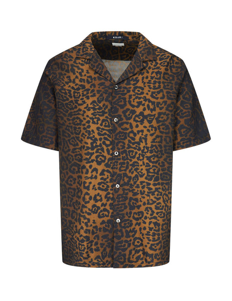 KSUBI Men's Brown Prowler Short Sleeve Shirt 5000005286