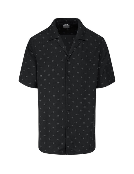 Men's KSUBI Star Shirt in Black. 5000005039