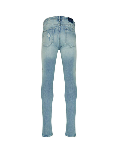 KSUBI Men's Light Blue Van Winkle Punk Jeans 5000004378