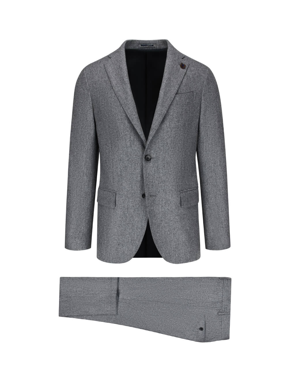Lardini Men's Giulio Fashion Grey Marl Suit IL476AEILA534233