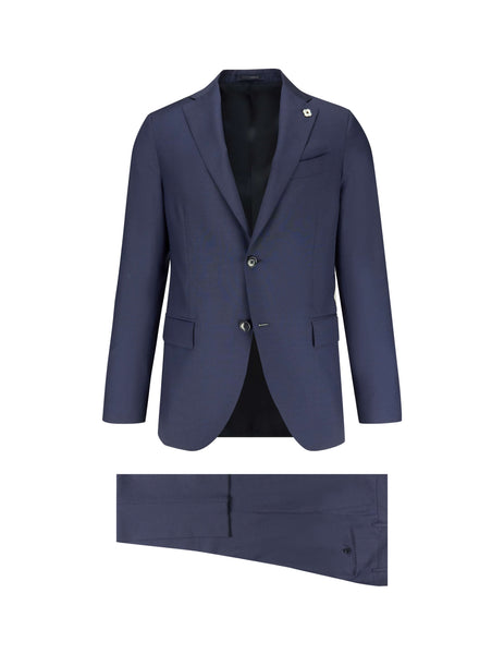 Lardini Men's Giulio Fashion Blue Two-Piece Suit EG476AVEGE5230828