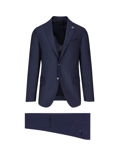 Lardini Men's Giulio Fashion Blue Two-Piece Suit IL861AEILRP53491110