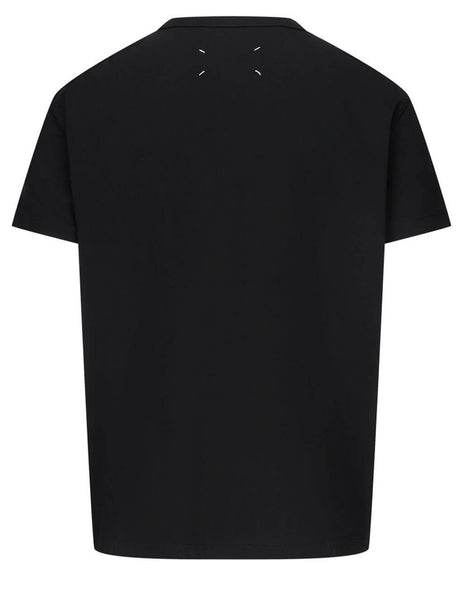 Men's Black Maison Margiela Distorted Logo T-Shirt S30GC0701S22816900