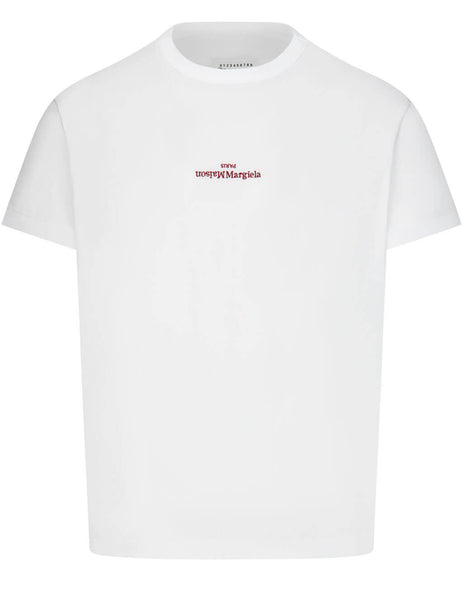 Men's Maison Margiela Distorted Logo T-Shirt in White - S30GC0701S22816100