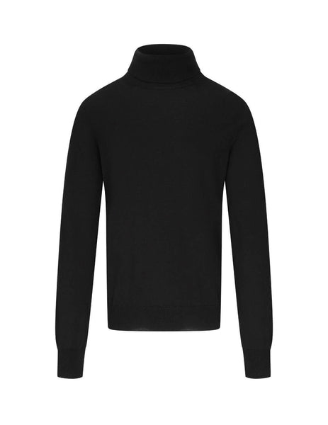 Men's Black Maison Margiela Elbow Patch Turtleneck Sweater S50HA0962S17364900