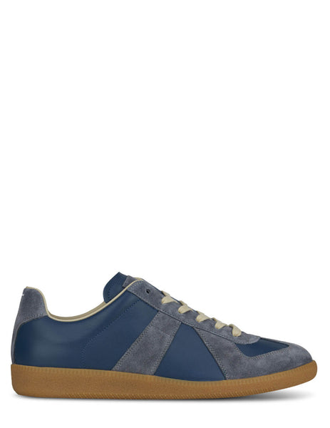 Men's Maison Margiela Replica Suede Sneakers in Denims/Granite - S57WS0236P1895H8540