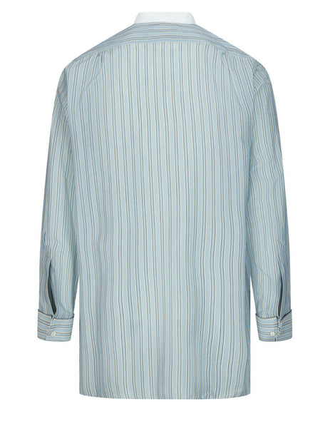 Men's Maison Margiela 1988 Crest Shirt in Light Grey - S50DL0462S53742001F