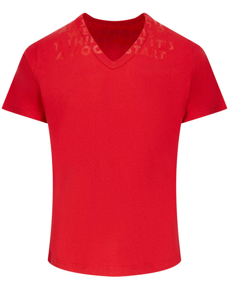 Men's Maison Margiela Charity AIDS T-Shirt in Red - S50GJ0021S20299973