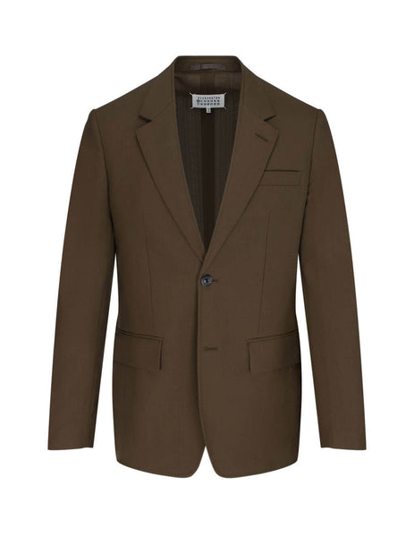Men's Brown Coffee Maison Margiela Two-Button Single-Breasted Suit S30FT0120S52705141