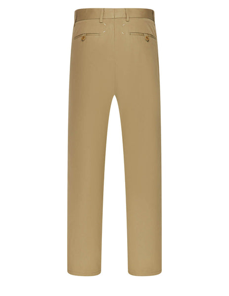 Men's Maison Margiela Cotton Gabardine Chinos in Cinnamon - S50KA0542S53741132