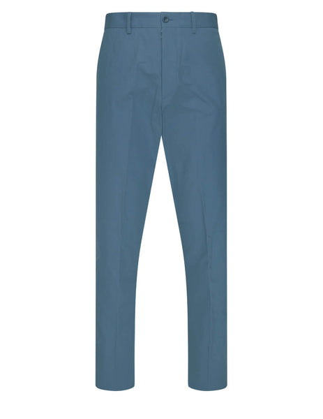 Maison Margiela Steel Blue Cotton Gabardine Chinos S50KA0542S53741509