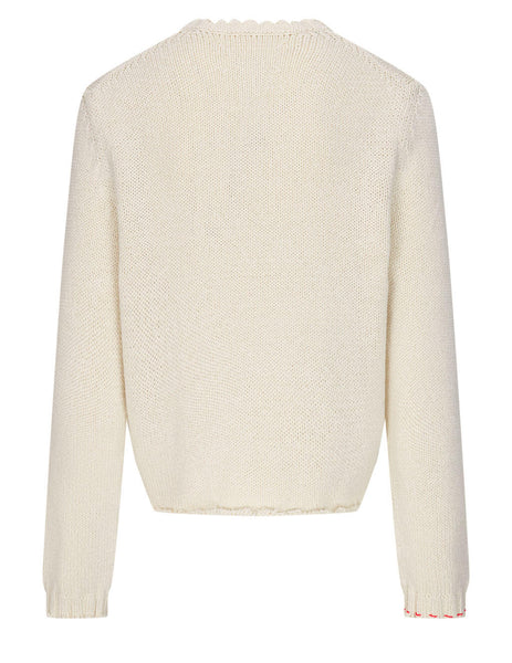 Men's Maison Margiela Destroyed Jumper in Cream - S50GP0242S17699102F