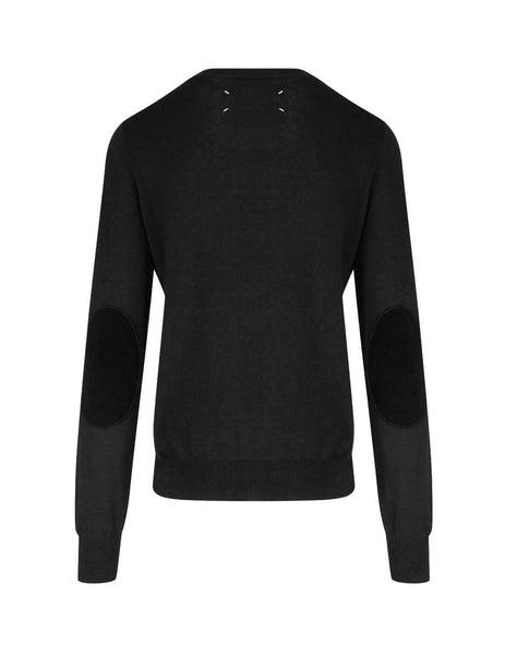 Men's Black Maison Margiela Elbow Patch Jumper S50HA0959S17364900