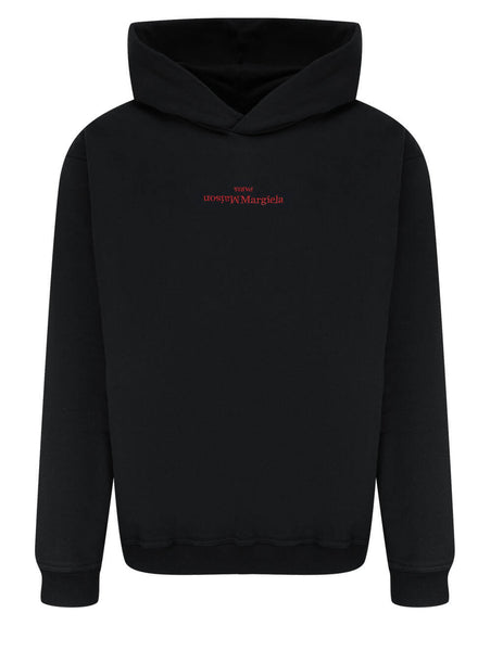 Men's Maison Margiela Embroidered Logo Hoodie in Black - S50GU0167S25503900