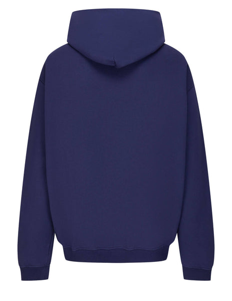 Men's Maison Margiela Embroidered Numerical Hoodie in Indigo - S50GU0163S25503510