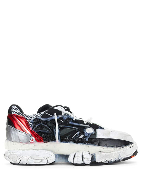 Maison Margiela Men's Giulio Fashion Red/Black/White Low-Top Fusion Sneakers S57WS0257P1878961