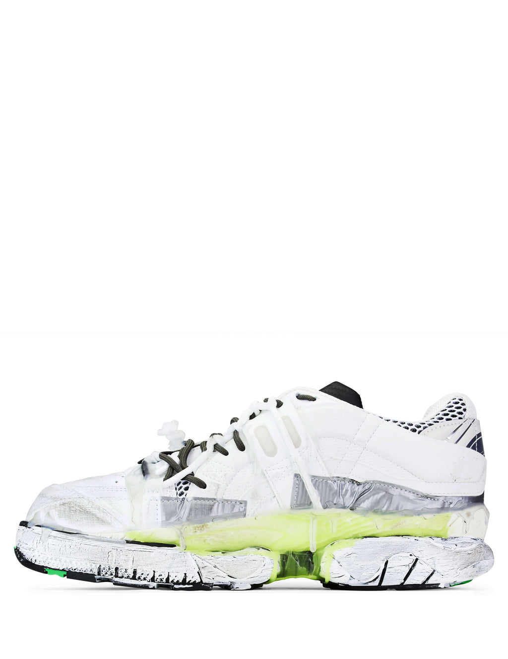 Maison Margiela Men's Giulio Fashion White/Green Fusion Sneakers S57WS0257P1878H6576
