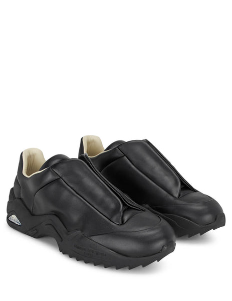 Maison Margiela Men's Black Leather Future Sneakers S37WS0493P2589H7362