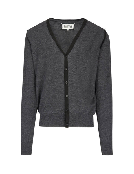 Maison Margiela Men's Giulio Fashion Grey Marl Cardigan S50HA0897S16768001F