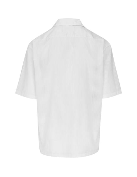 Maison Margiela Men's White Pinstripe Shirt S30DL0473S52650001F