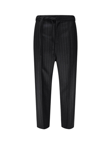 Maison Margiela Men's Giulio Fashion Black Pinstripe Trousers S50KA0532S52940002F