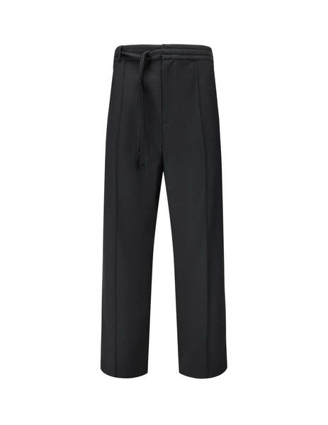 Men's Black Maison Margiela Tie Waist Trousers S50KA0532S47782900