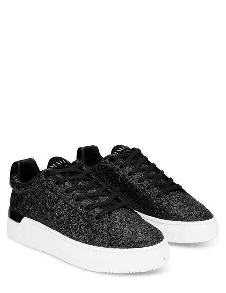 Women's Mallet London GRFTR Black Glitter Sneakers - TEW1055BLKGLT