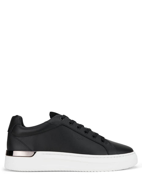 Men's Mallet London GRFTR Black Leather Sneakers - TE1055BLKL