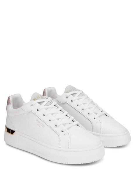 Women's Mallet London GRFTR White Glitter Sneakers - TEW1055WHTGLT