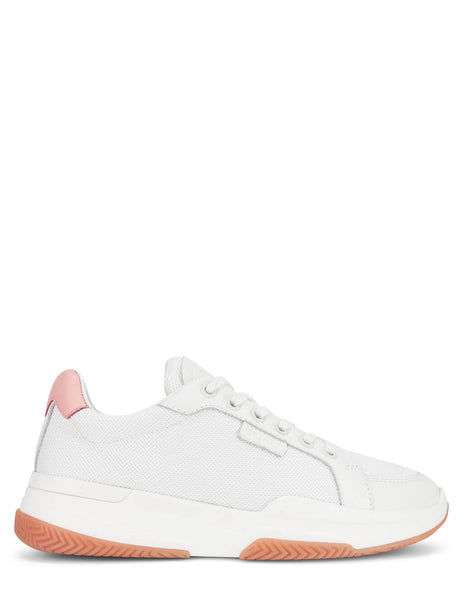 Women's Mallet London Kingsland White Mesh Pink Sneakers - TEW3051MSHPNK
