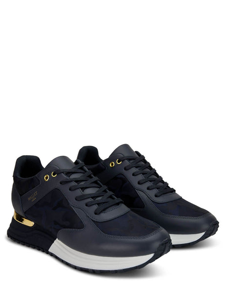 Men's Mallet London Lux Runner 2.0 Navy Camo & Gold Sneakers - TE2060NCAMGC