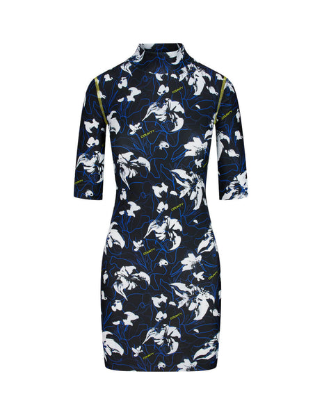 Women's Black Marcelo Burlon County Flowers Dress CWDB107S20JER0011001