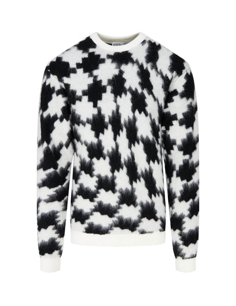 Men's Marcelo Burlon Cross Over Jumper in Black and White. CMHE028F20KNI0011001