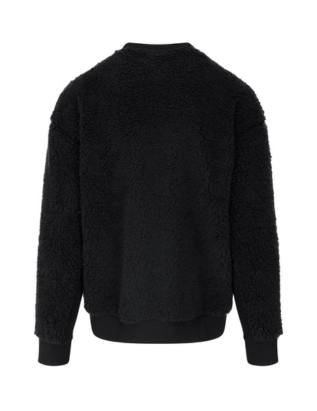 Men's Marcelo Burlon Cross Teddy Crewneck in Black. CMBA049F20FAB0011001