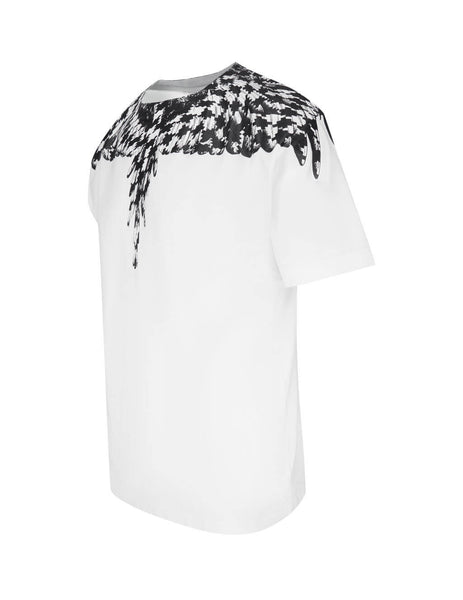 Men's Marcelo Burlon Cross Wings T-Shirt in White and Black. CMAA018F20JER0030110