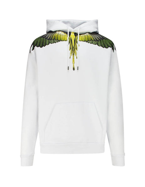 Marcelo Burlon Yellow Ghost Wings Hoodie Cmbb007E196300010188
