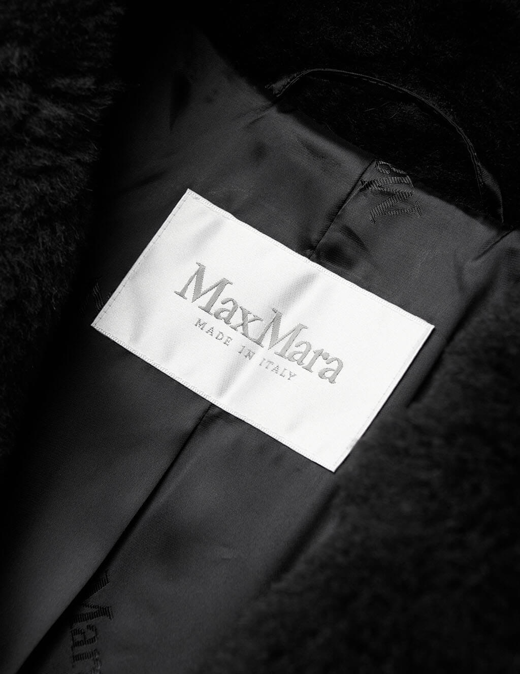 Max Mara Women's Black Fiocco Coat 10162703600-008