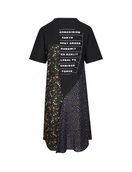 McQ Alexander McQueen Women's Black Decon Hybrid T-Shirt Dress 549811RNJ051000