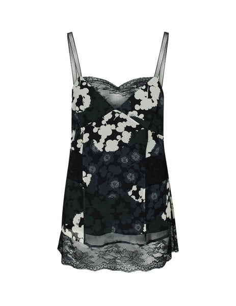 McQ Alexander McQueen Women's Giulio Fashion Black Fluid Cami Top 600489ROB111006