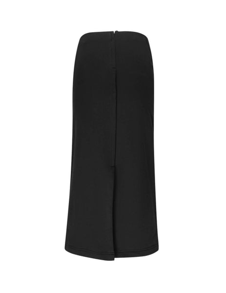 McQ Alexander McQueen Women's Giulio Fashion Black Knotted Sleeve Skirt 566978RNH311000
