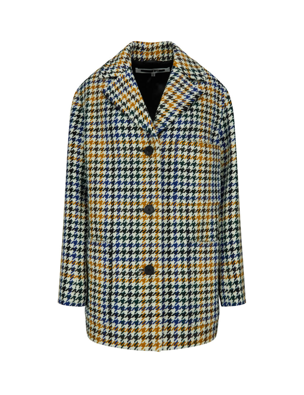 McQ Alexander McQueen Women's Giulio Fashion White Pocket Plaid Coat 549165RNA021982