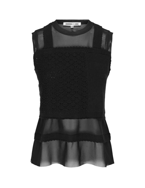 McQ Alexander McQueen Women's Giulio Fashion Darkest Black X-Ray Fuji Knit 579694ROK161000