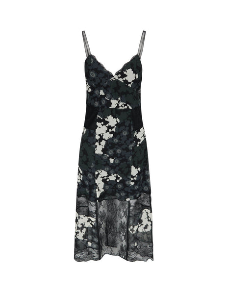 McQ Alexander McQueen Women's Giulio Fashion Black Yae Slip Dress 588576ROB111000