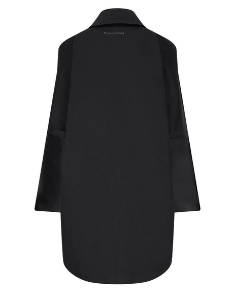 Women's MM6 Maison Margiela Bull Oversized Coat in Black - S52AA0107S53090900