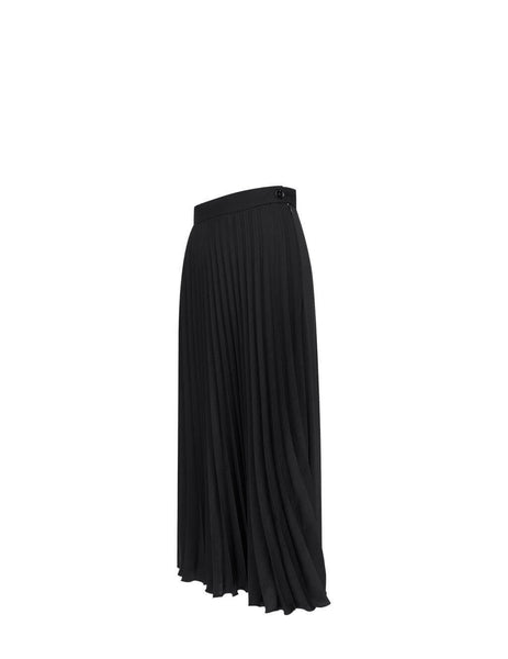 Women's MM6 Maison Margiela Fluid Pleated Skirt in Black - S52MA0128S43455900