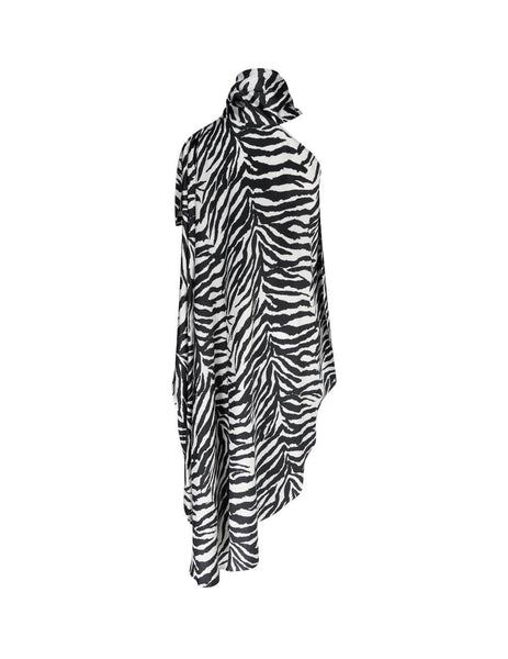 MM6 Maison Margiela One-Shoulder Zebra Dress S62CT0100S53383001S