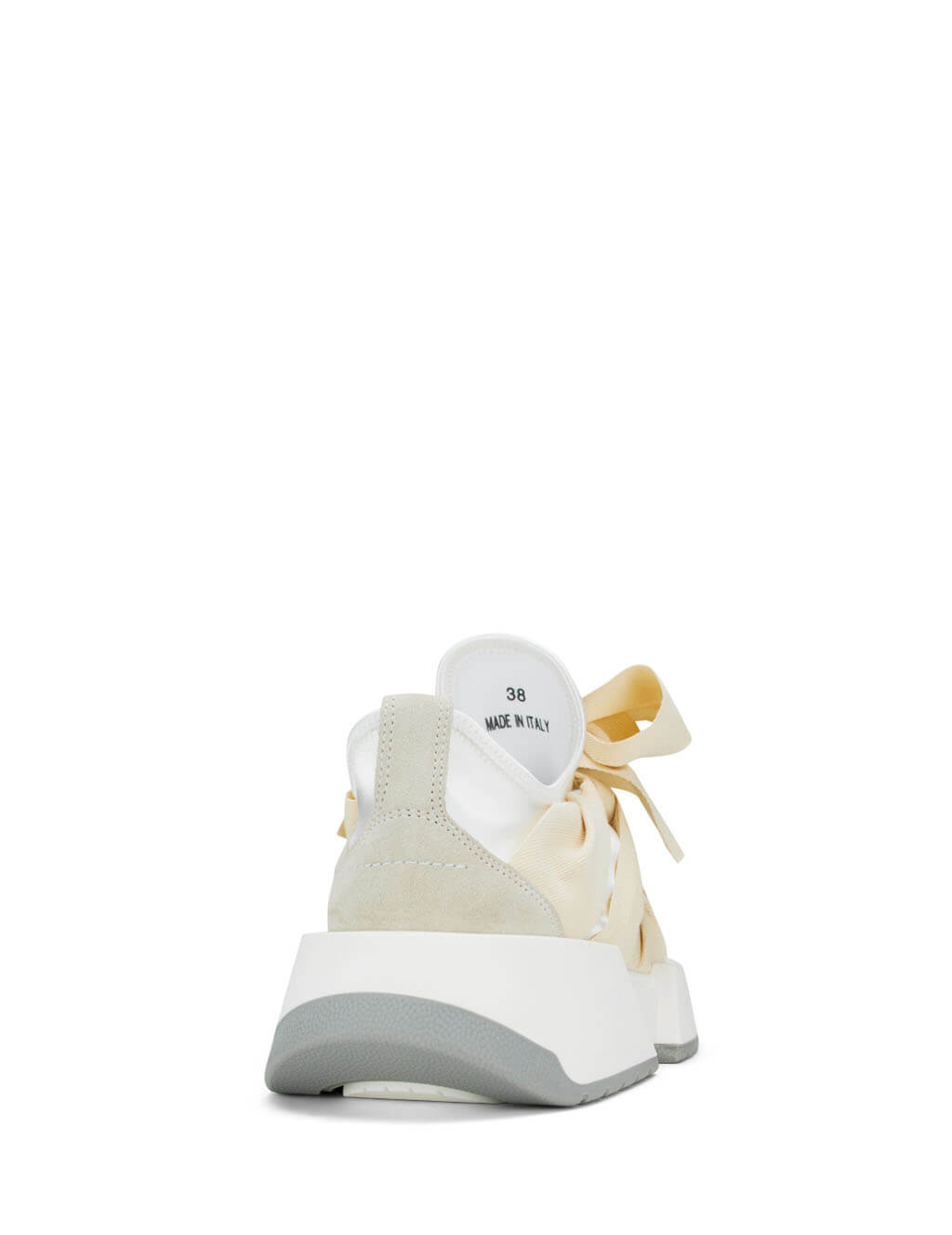 Women's Ivory and White MM6 Maison Margiela Ribbon Tie Sneakers S59WS0033P3286T8069